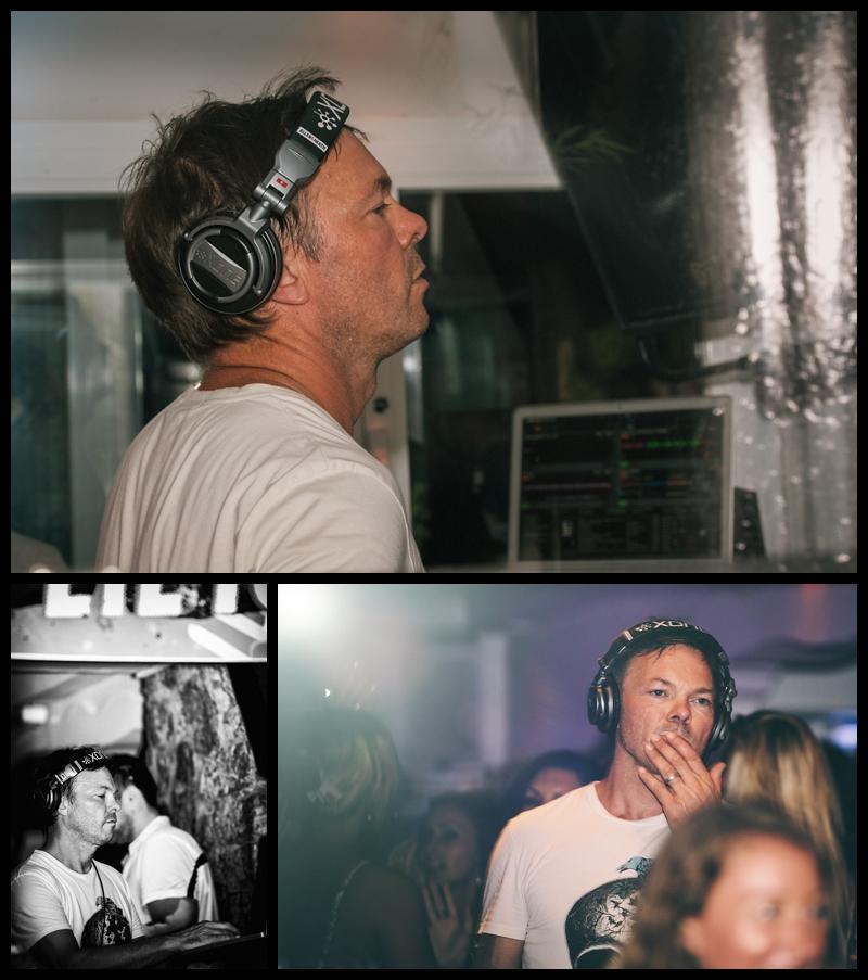 DJ Pete Tong playing a set at Cafe Mambo in Ibiza
