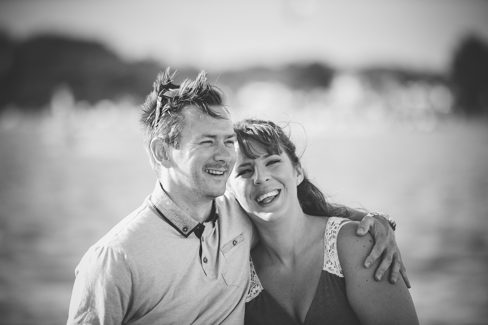 Nikki and Mike's Sandbanks engagement shoot