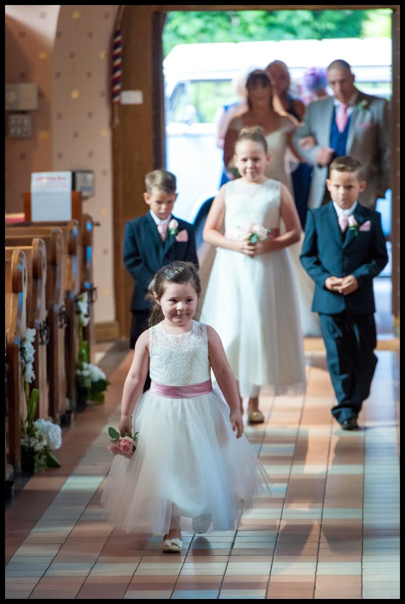 all saints church wedding branksome park
