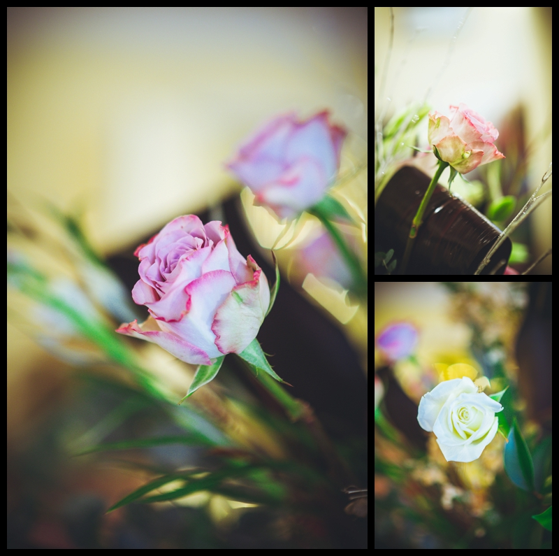 image of flowers at hanbury manor wedding