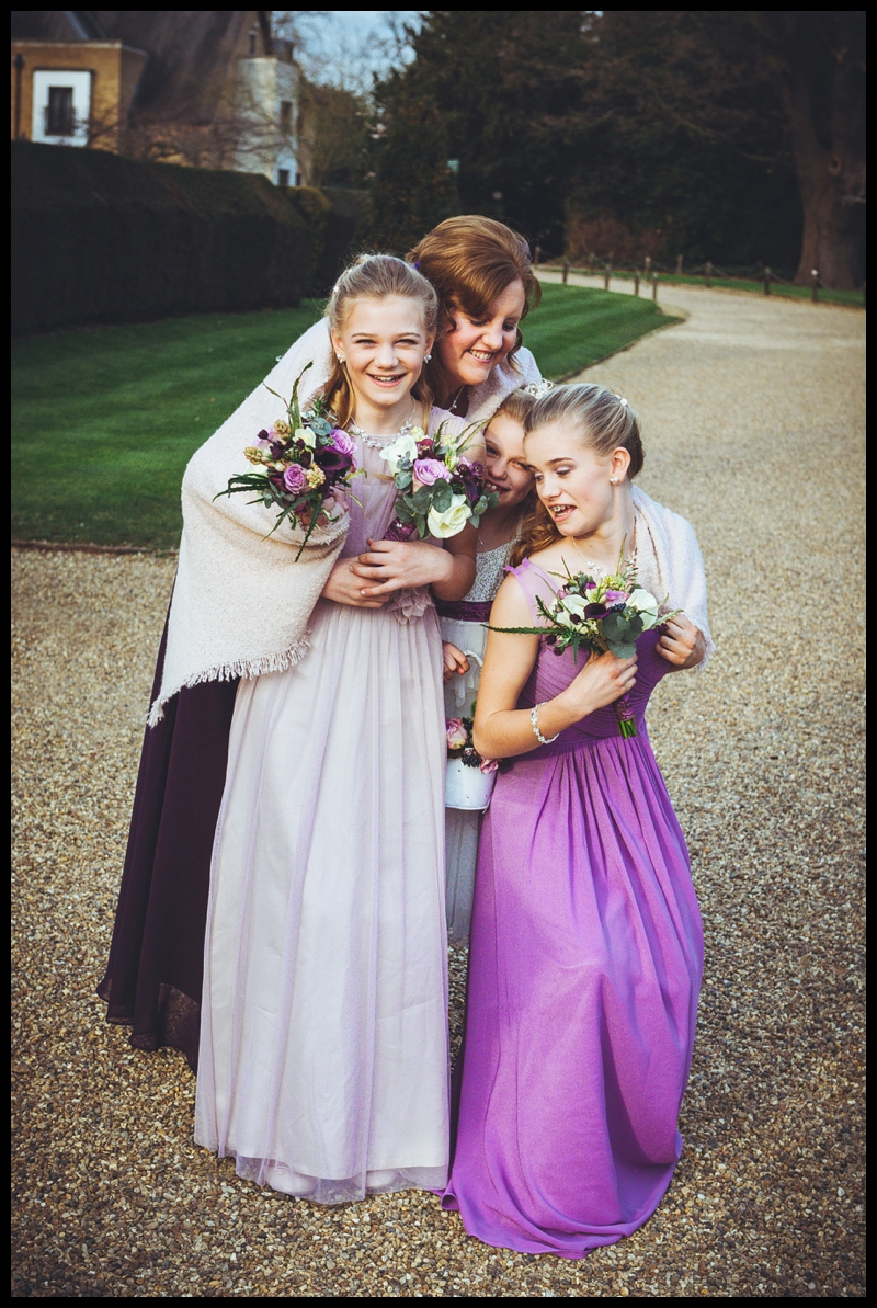 image of bridesmaids at hanbury manor