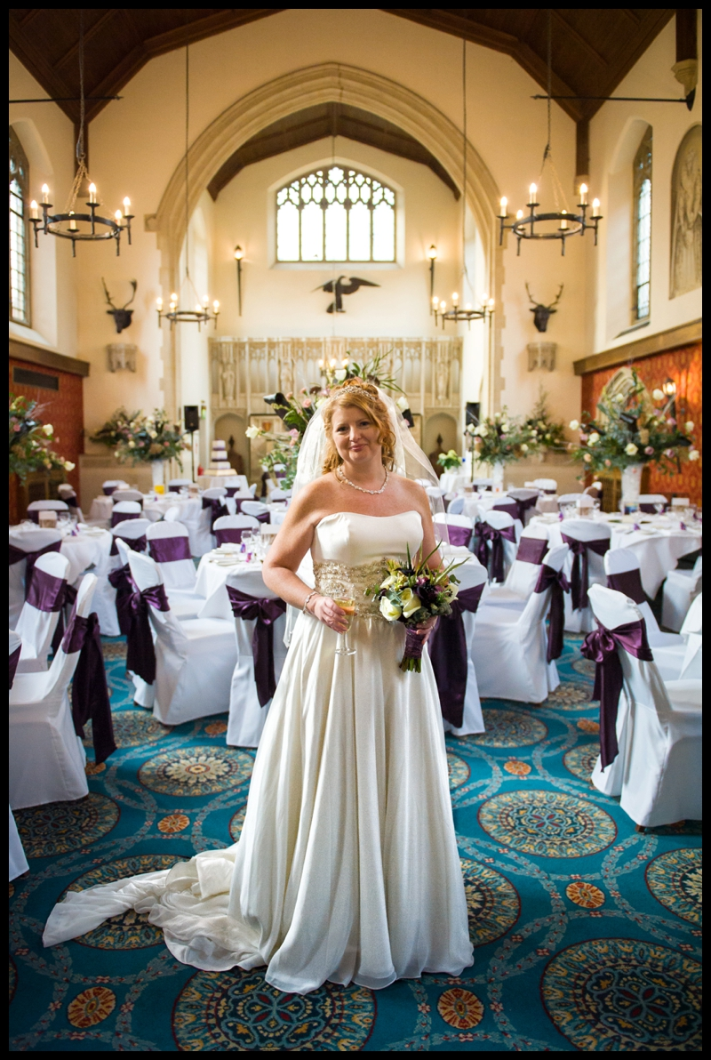 image of bride at hanbury manor