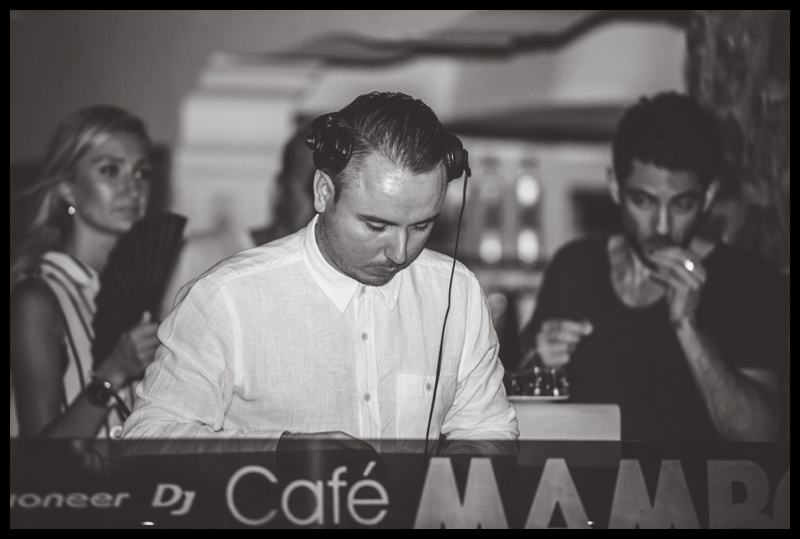 Duke Dumont playing a set at Cafe mambo in Ibiza