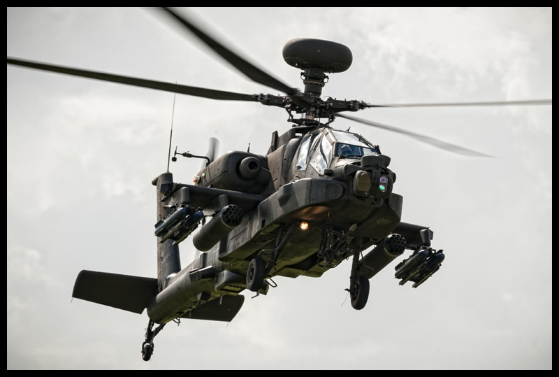 AH64 Apache helicopter at AAC Middle Wallop in Hampshire, England