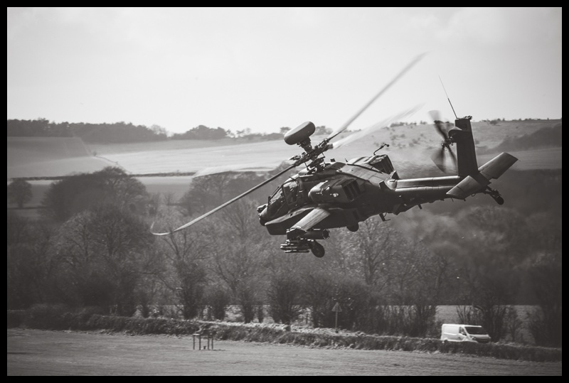 Army Air Corps AH64 Apache helicopter at AAC Middle Wallop in Hampshire, England
