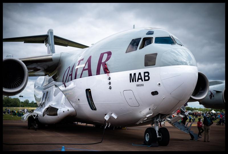 Qatar airforce C17 Globemaster at RIAT 2019