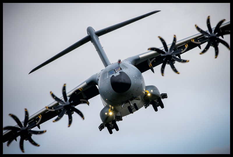 A400 on final approach to RAF Fairford