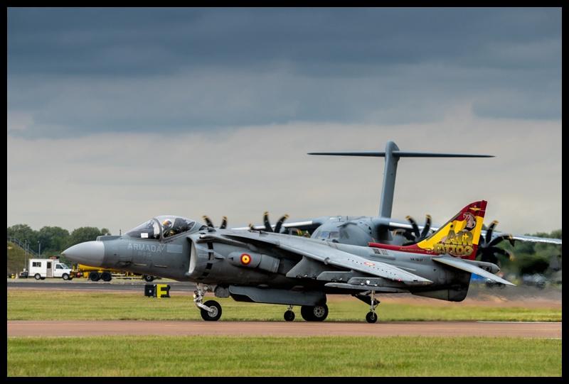 Spanish Navy Harrier jet at RIAT 2019
