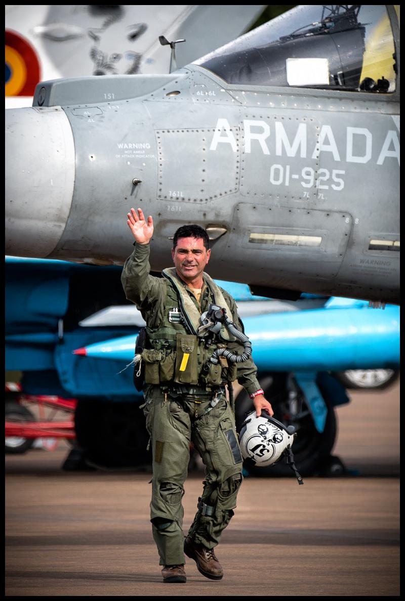 "Capitán de Fragata Manuel ""Moro"" Rodriguez's last flight in the harrier at RIAT 2019"
